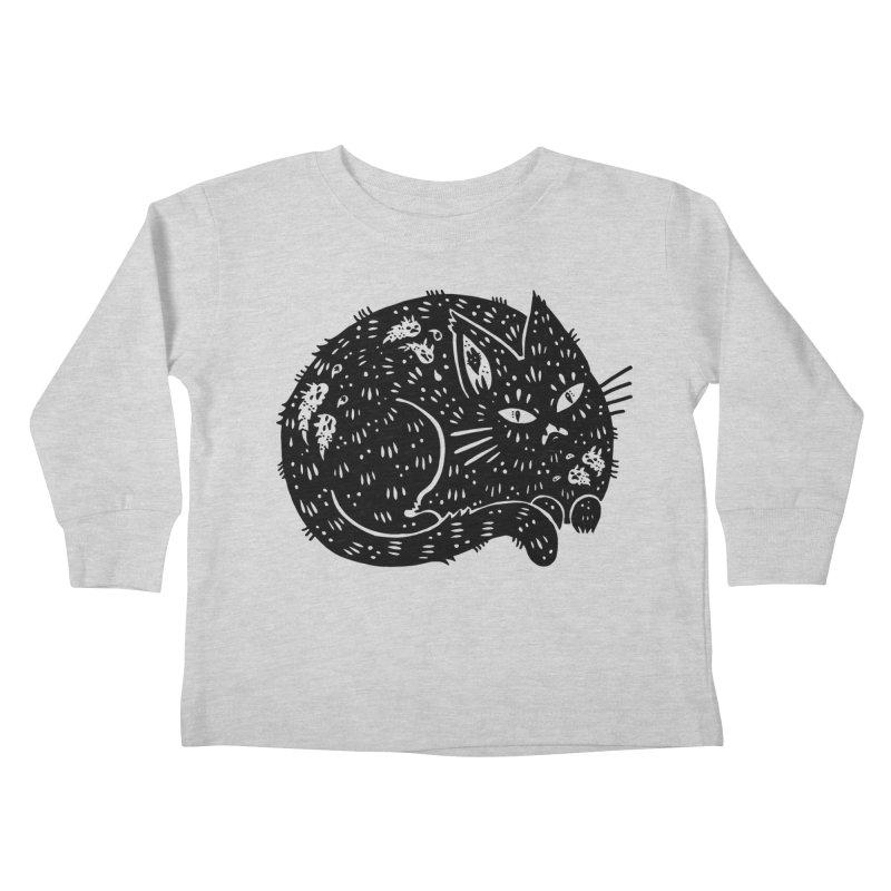 Fatty Cat sitting Kids Toddler Longsleeve T-Shirt by Haypeep's Artist Shop