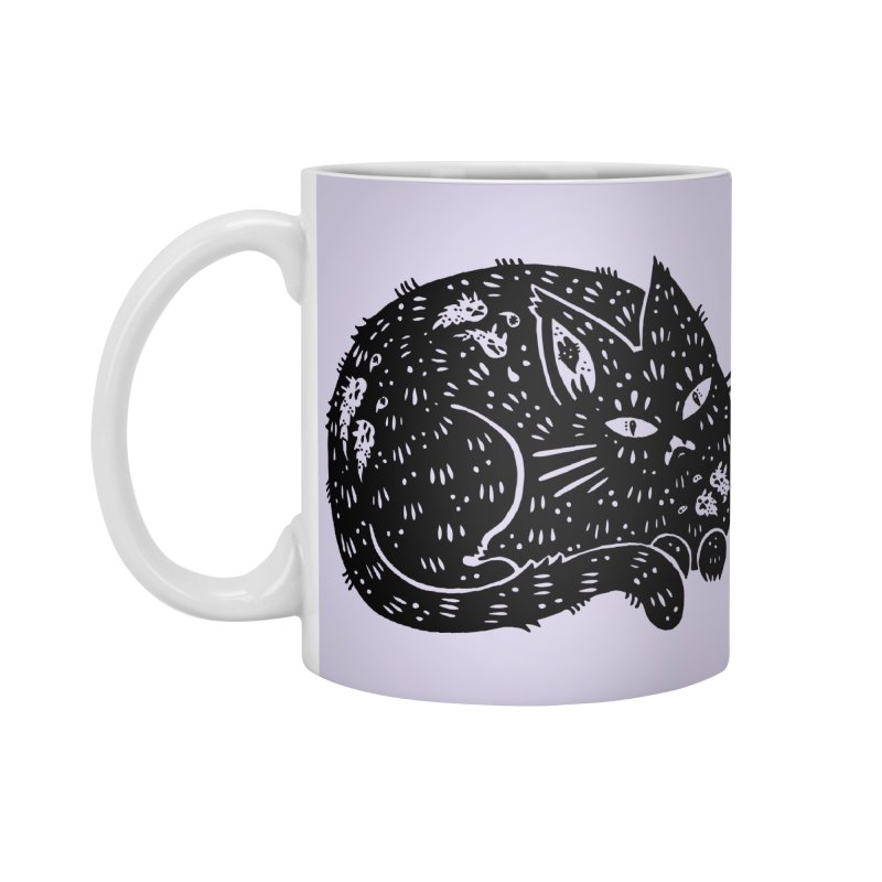 Fatty Cat sitting Accessories Standard Mug by Haypeep's Artist Shop