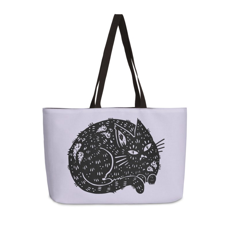 Fatty Cat sitting Accessories Weekender Bag Bag by Haypeep's Artist Shop