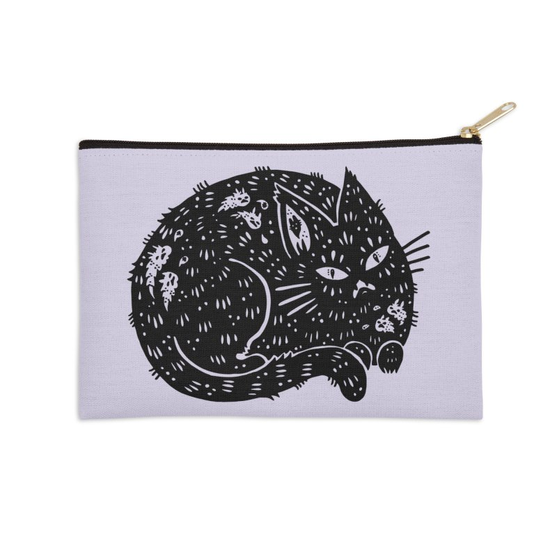 Fatty Cat sitting Accessories Zip Pouch by Haypeep's Artist Shop