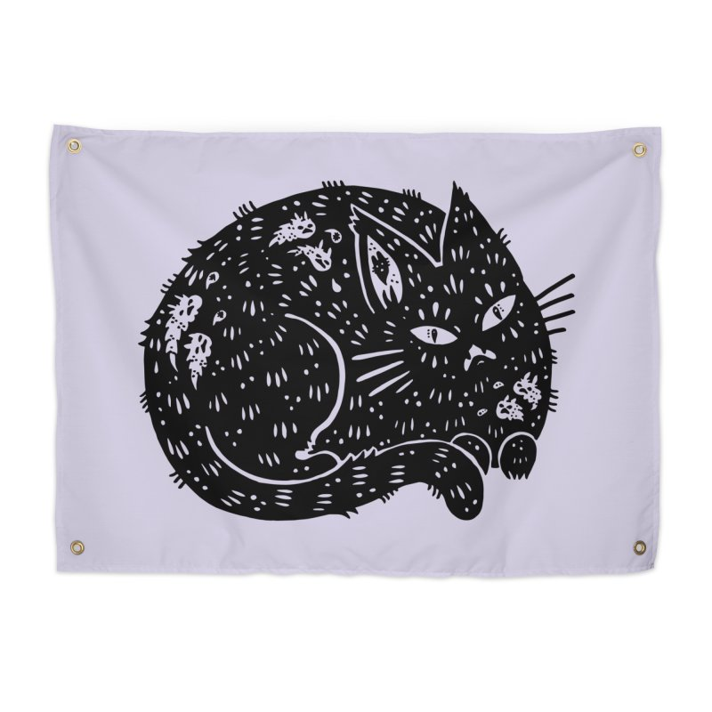 Fatty Cat sitting Home Tapestry by Haypeep's Artist Shop