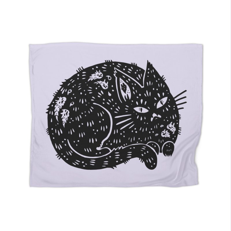 Fatty Cat sitting Home Blanket by Haypeep's Artist Shop