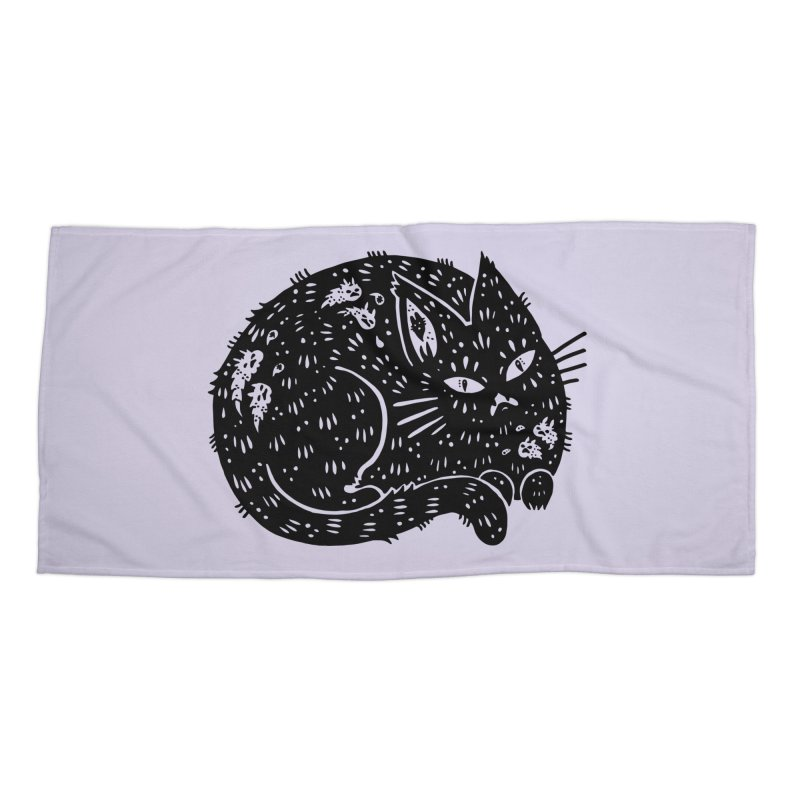Fatty Cat sitting Accessories Beach Towel by Haypeep's Artist Shop