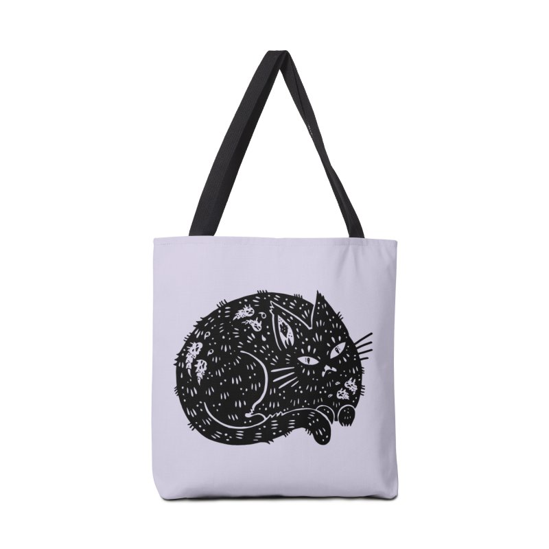 Fatty Cat sitting Accessories Bag by Haypeep's Artist Shop
