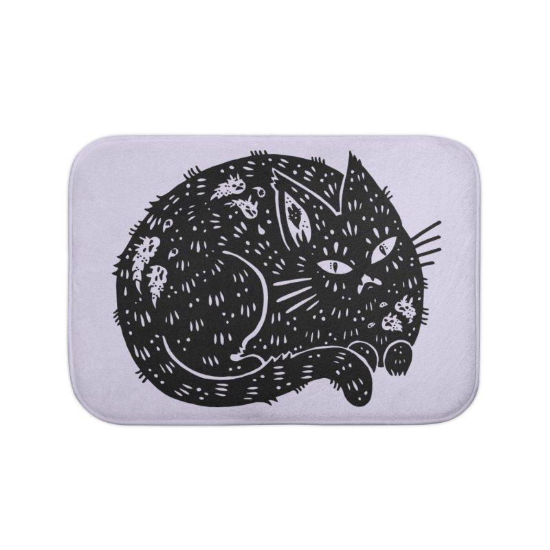 Fatty Cat sitting Home Bath Mat by Haypeep's Artist Shop