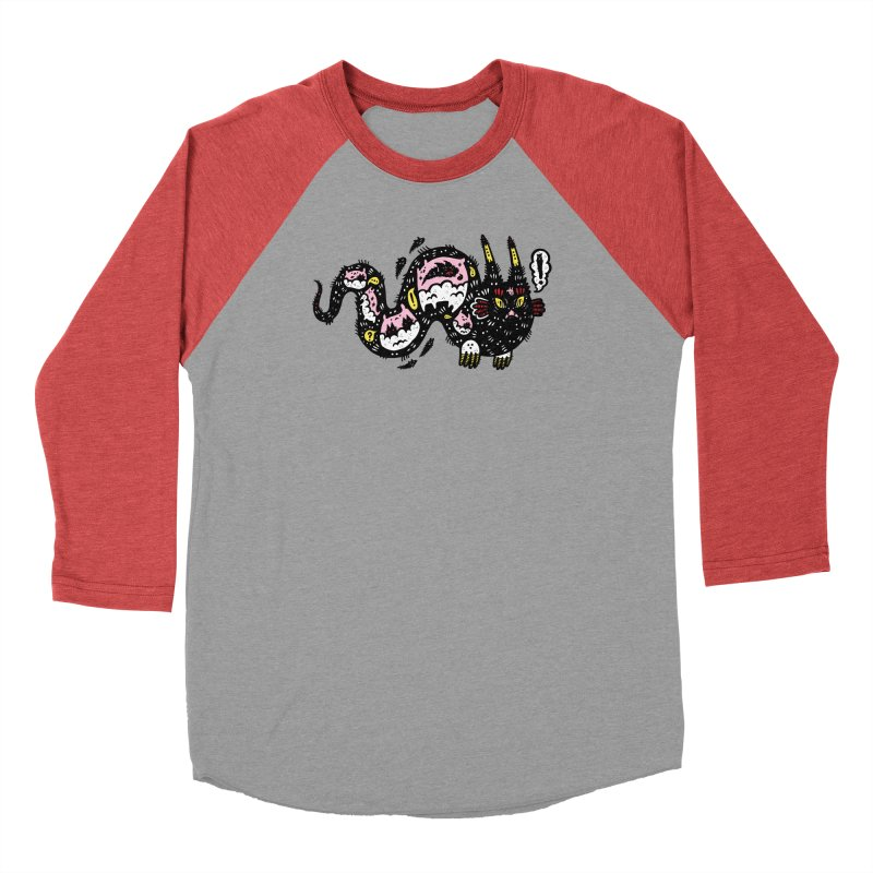 Wiggly Creature Men's Baseball Triblend Longsleeve T-Shirt by Haypeep's Artist Shop