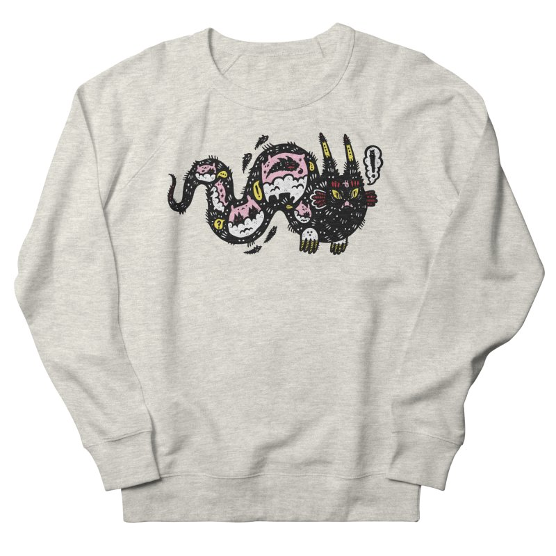 Wiggly Creature Men's French Terry Sweatshirt by Haypeep's Artist Shop