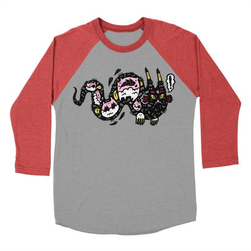 Wiggly Creature Women's Baseball Triblend T-Shirt by Haypeep's Artist Shop