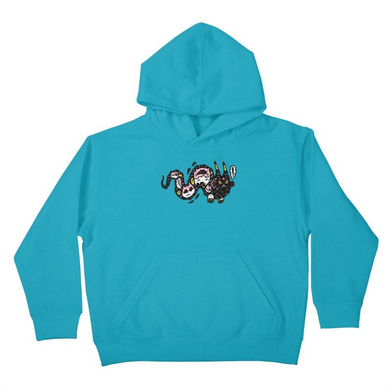 Wiggly Creature Kids Pullover Hoody by Haypeep's Artist Shop