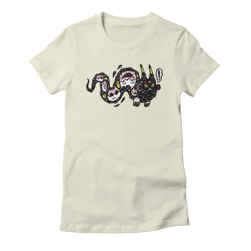 Wiggly Creature Women's Fitted T-Shirt by Haypeep's Artist Shop