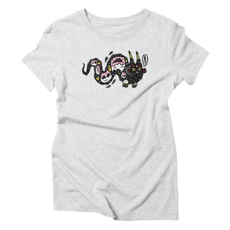 Wiggly Creature Women's Triblend T-Shirt by Haypeep's Artist Shop