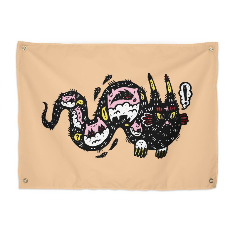 Wiggly Creature Home Tapestry by Haypeep's Artist Shop