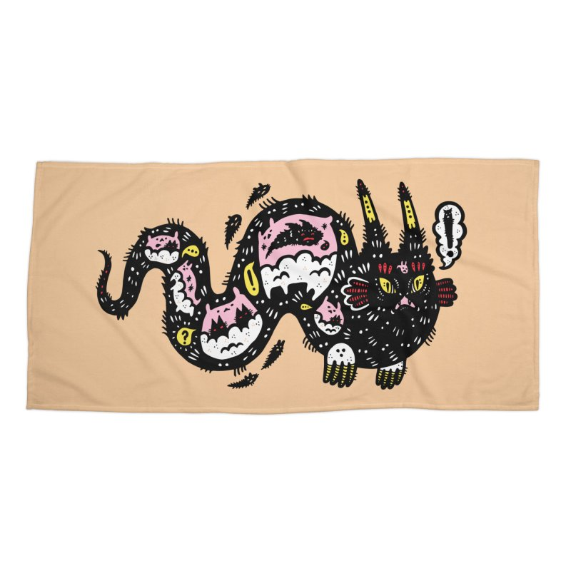 Wiggly Creature Accessories Beach Towel by Haypeep's Artist Shop