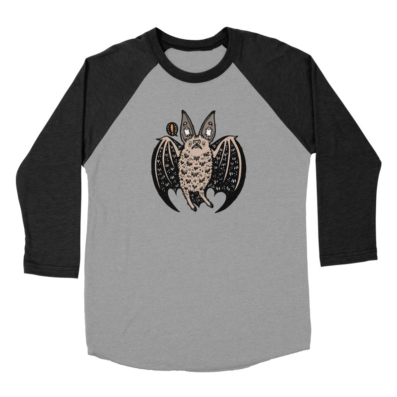 Batty Bat Women's Baseball Triblend Longsleeve T-Shirt by Haypeep's Artist Shop