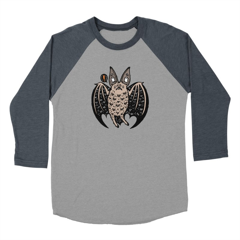 Batty Bat Men's Baseball Triblend Longsleeve T-Shirt by Haypeep's Artist Shop