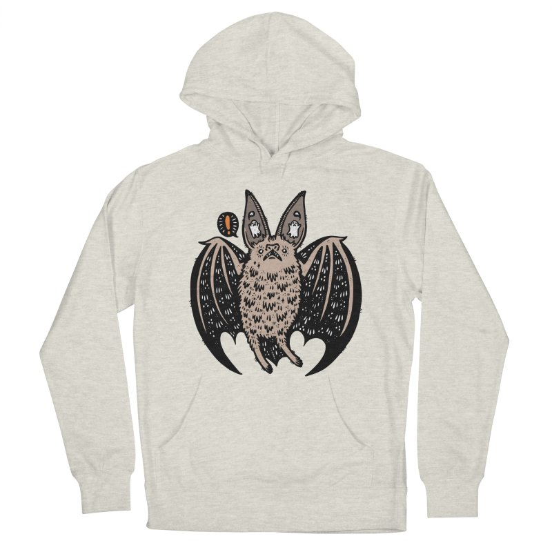 Batty Bat Men's French Terry Pullover Hoody by Haypeep's Artist Shop
