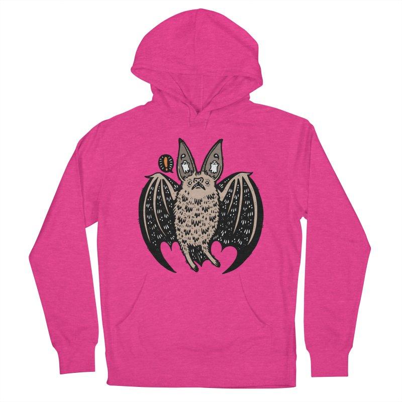 Batty Bat Men's French Terry Pullover Hoody by Haypeep's Artist Shop