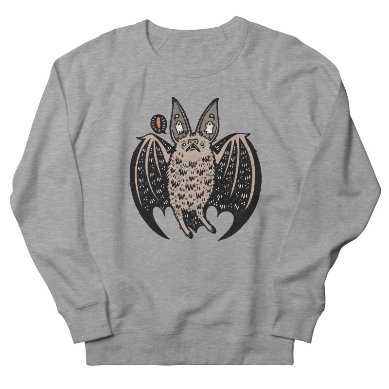 Batty Bat Men's French Terry Sweatshirt by Haypeep's Artist Shop