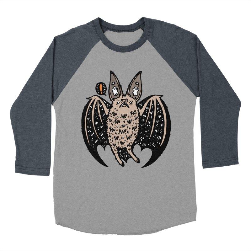 Batty Bat Women's Baseball Triblend Longsleeve T-Shirt by Haypeep's Artist Shop