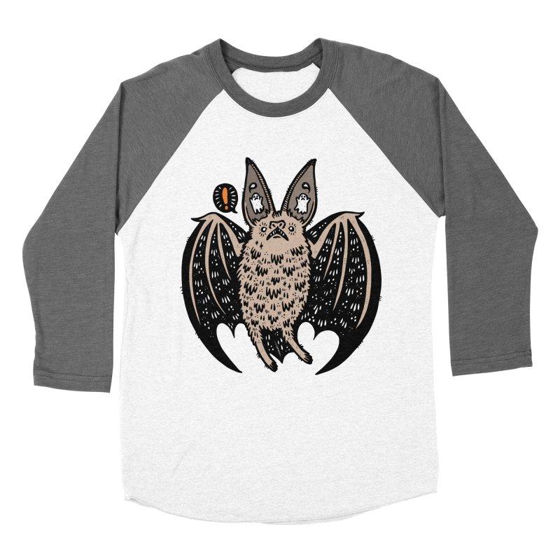 Batty Bat Men's Baseball Triblend Longsleeve T-Shirt by Haypeep's Artist Shop
