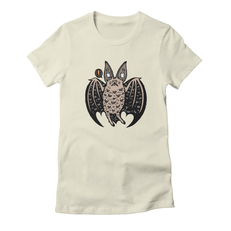 Batty Bat Women's Fitted T-Shirt by Haypeep's Artist Shop