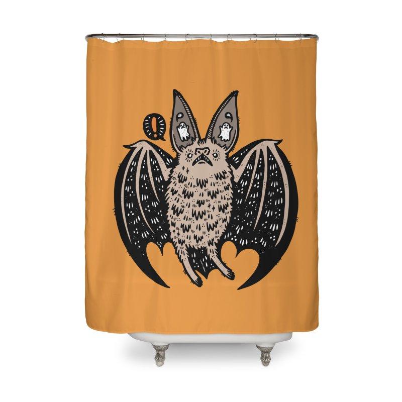 Batty Bat Home Shower Curtain by Haypeep's Artist Shop