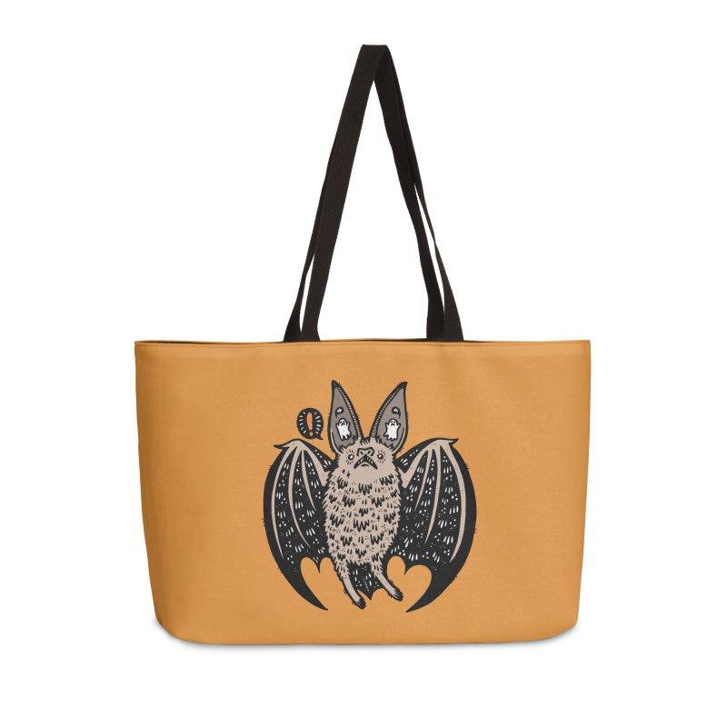 Batty Bat Accessories Weekender Bag Bag by Haypeep's Artist Shop