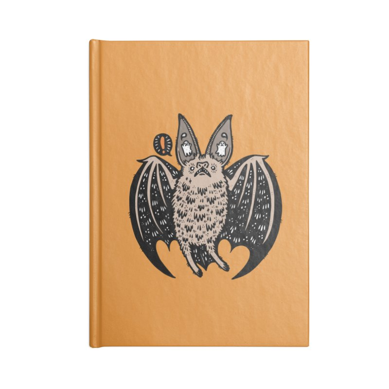 Batty Bat Accessories Lined Journal Notebook by Haypeep's Artist Shop