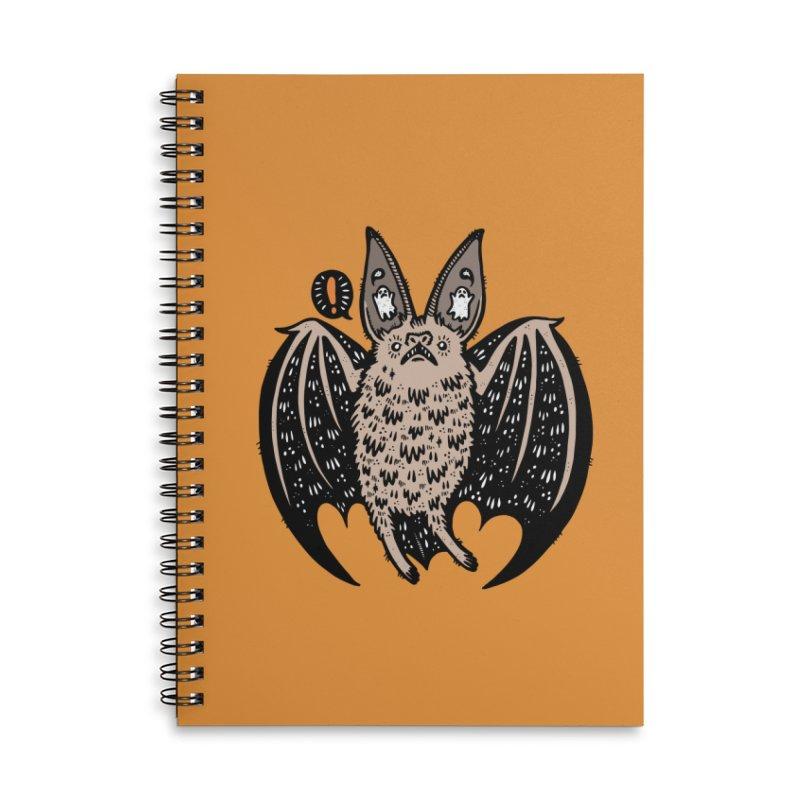 Batty Bat Accessories Lined Spiral Notebook by Haypeep's Artist Shop