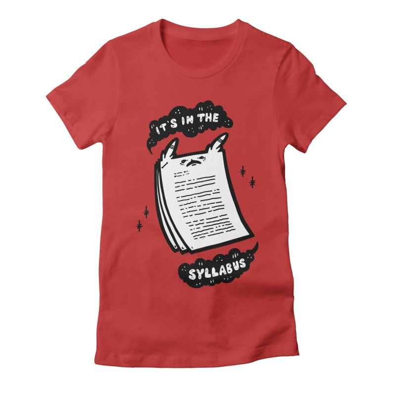 It's in the syllabus Women's Fitted T-Shirt by Haypeep's Artist Shop
