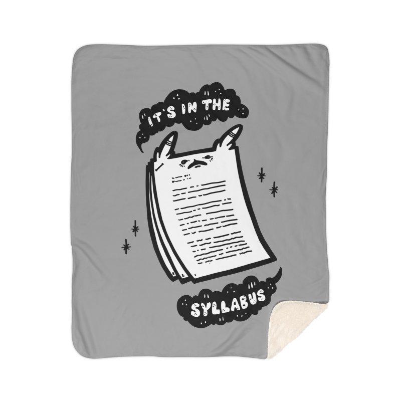 It's in the syllabus Home Sherpa Blanket Blanket by Haypeep's Artist Shop