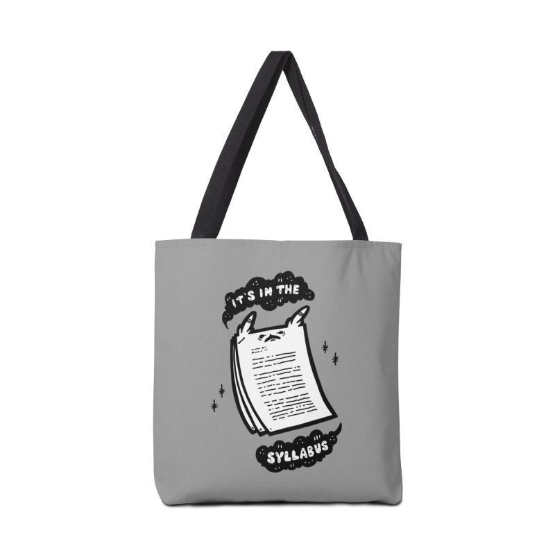 It's in the syllabus Accessories Bag by Haypeep's Artist Shop