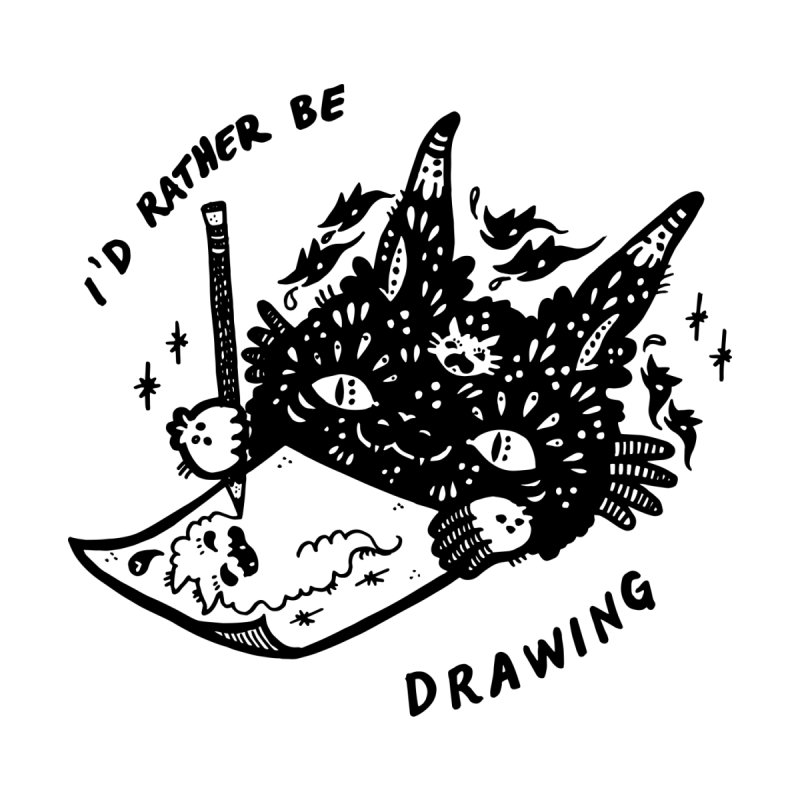 I'd rather be drawing Accessories Sticker by Haypeep's Artist Shop