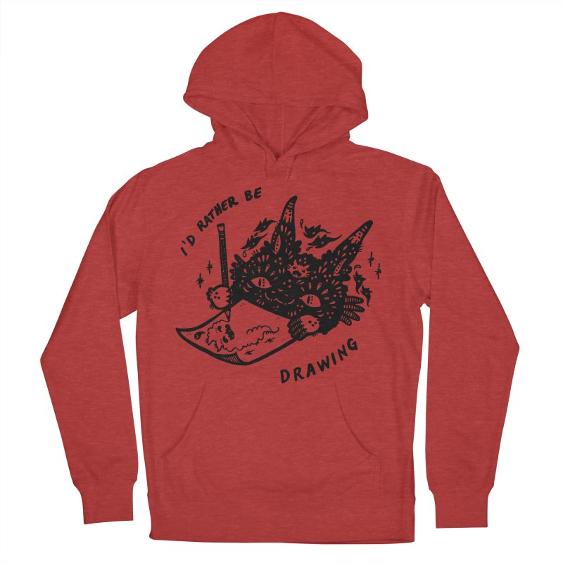 I'd rather be drawing Men's Pullover Hoody by Haypeep's Artist Shop