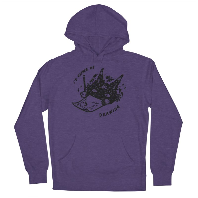 I'd rather be drawing Women's French Terry Pullover Hoody by Haypeep's Artist Shop