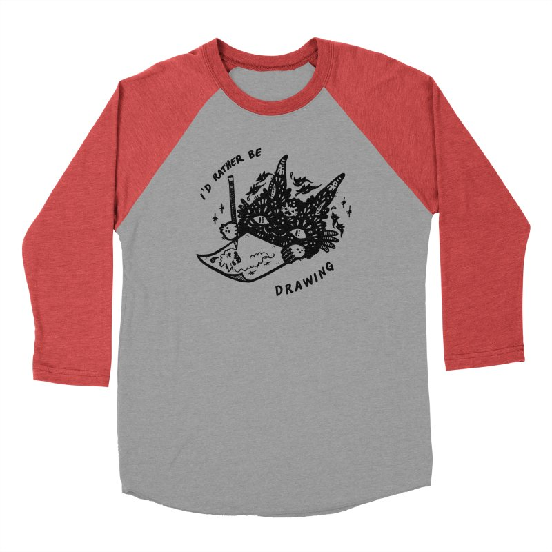 I'd rather be drawing Men's Longsleeve T-Shirt by Haypeep's Artist Shop