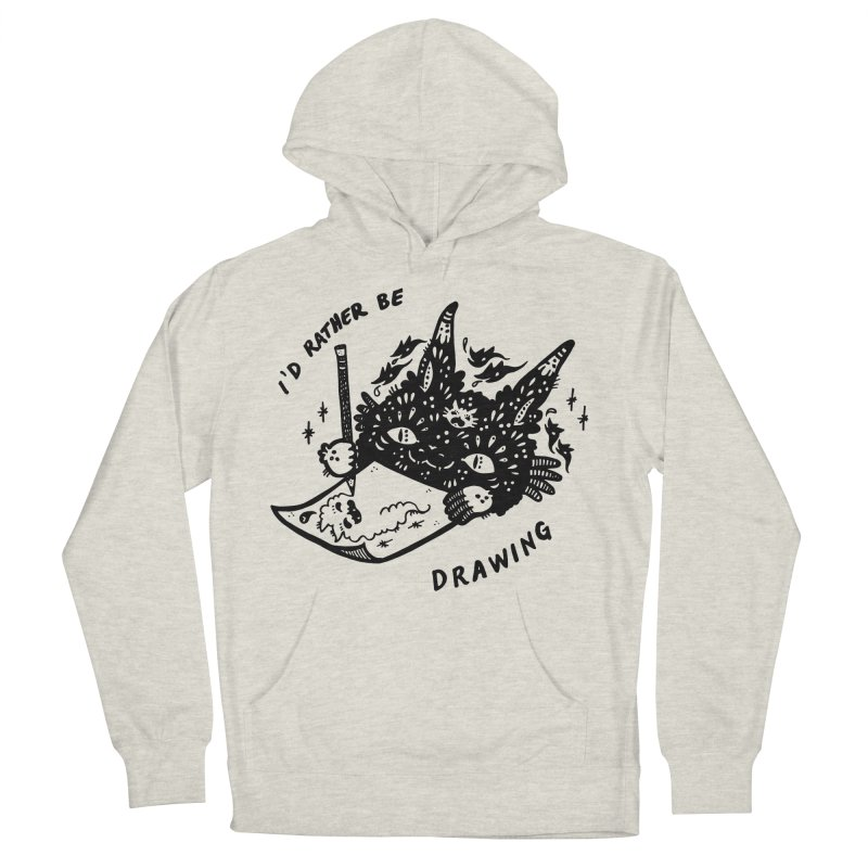 I'd rather be drawing Men's French Terry Pullover Hoody by Haypeep's Artist Shop
