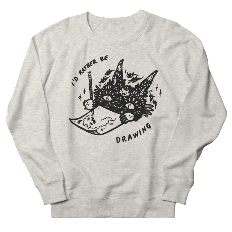 I'd rather be drawing Men's French Terry Sweatshirt by Haypeep's Artist Shop