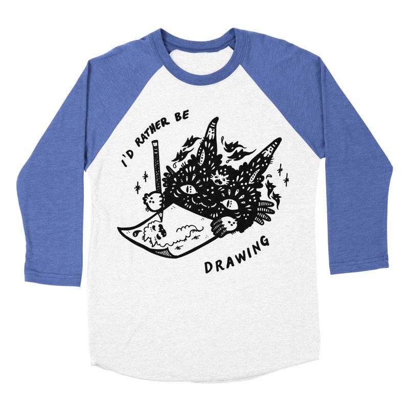 I'd rather be drawing Women's Baseball Triblend Longsleeve T-Shirt by Haypeep's Artist Shop
