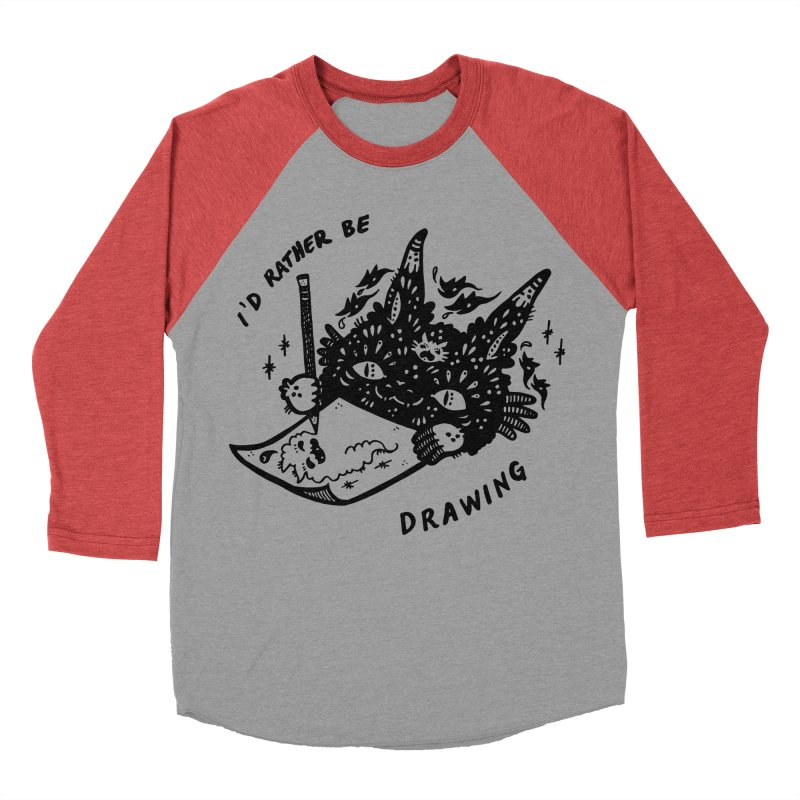 I'd rather be drawing Men's Baseball Triblend Longsleeve T-Shirt by Haypeep's Artist Shop