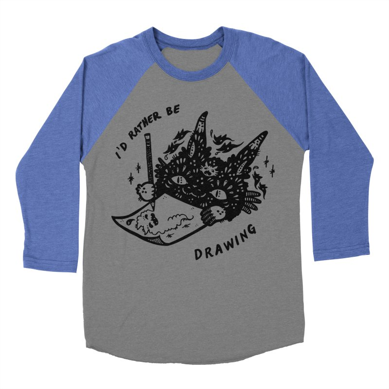 I'd rather be drawing Men's Baseball Triblend T-Shirt by Haypeep's Artist Shop