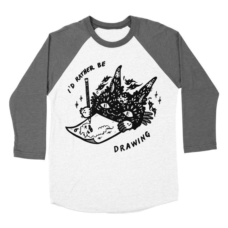 I'd rather be drawing Men's Baseball Triblend T-Shirt by Haypeep's Artist Shop
