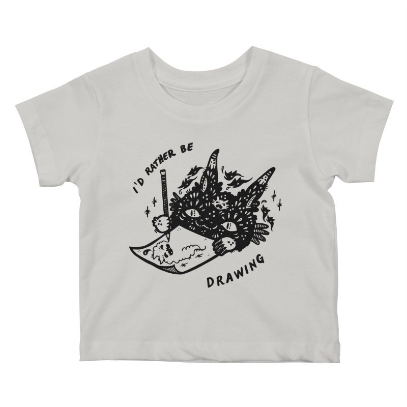I'd rather be drawing Kids Baby T-Shirt by Haypeep's Artist Shop