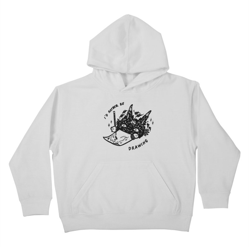 I'd rather be drawing Kids Pullover Hoody by Haypeep's Artist Shop