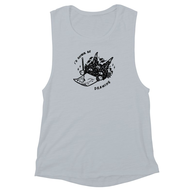 I'd rather be drawing Women's Muscle Tank by Haypeep's Artist Shop
