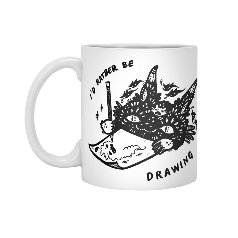 I'd rather be drawing Accessories Standard Mug by Haypeep's Artist Shop