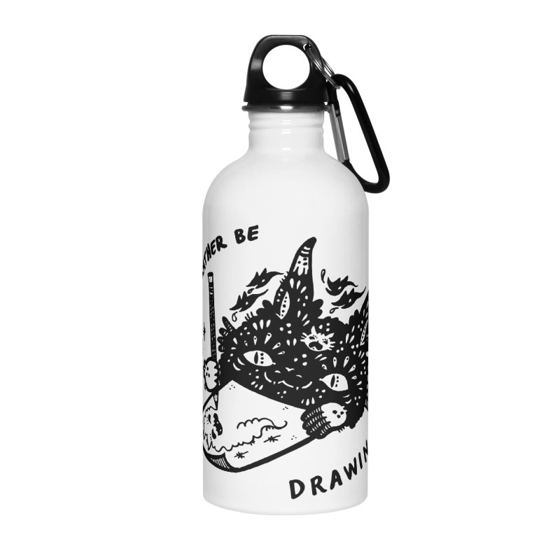 I'd rather be drawing Accessories Water Bottle by Haypeep's Artist Shop