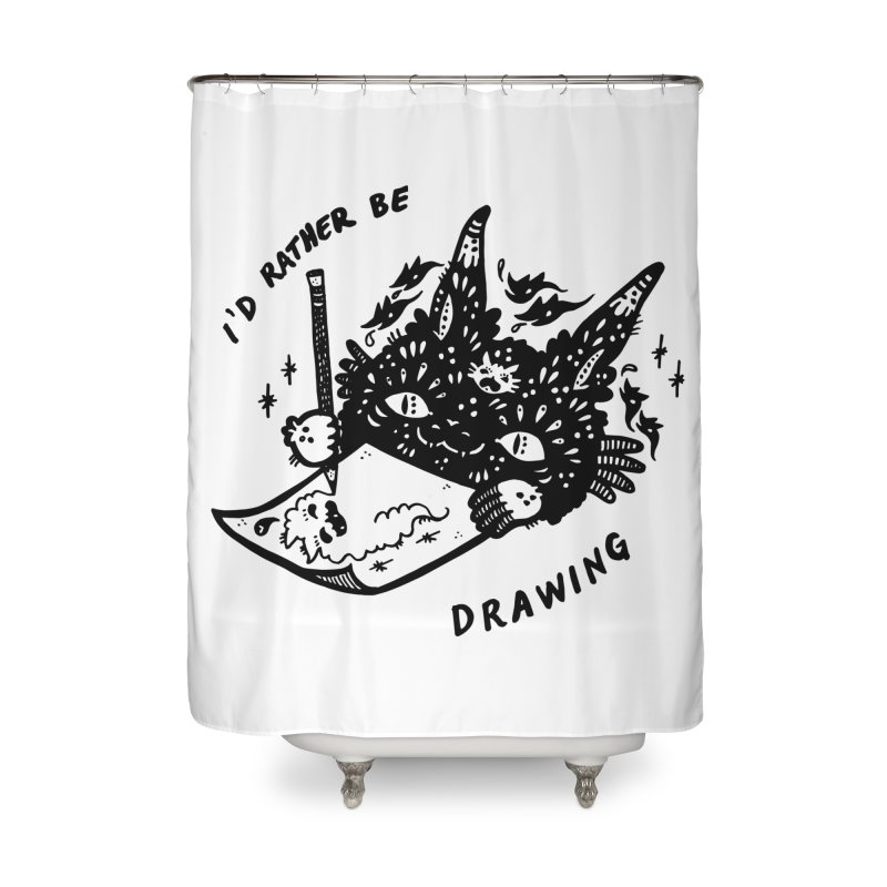 I'd rather be drawing Home Shower Curtain by Haypeep's Artist Shop