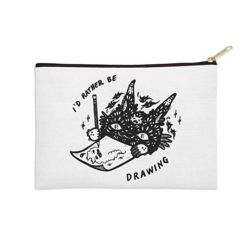 I'd rather be drawing Accessories Zip Pouch by Haypeep's Artist Shop