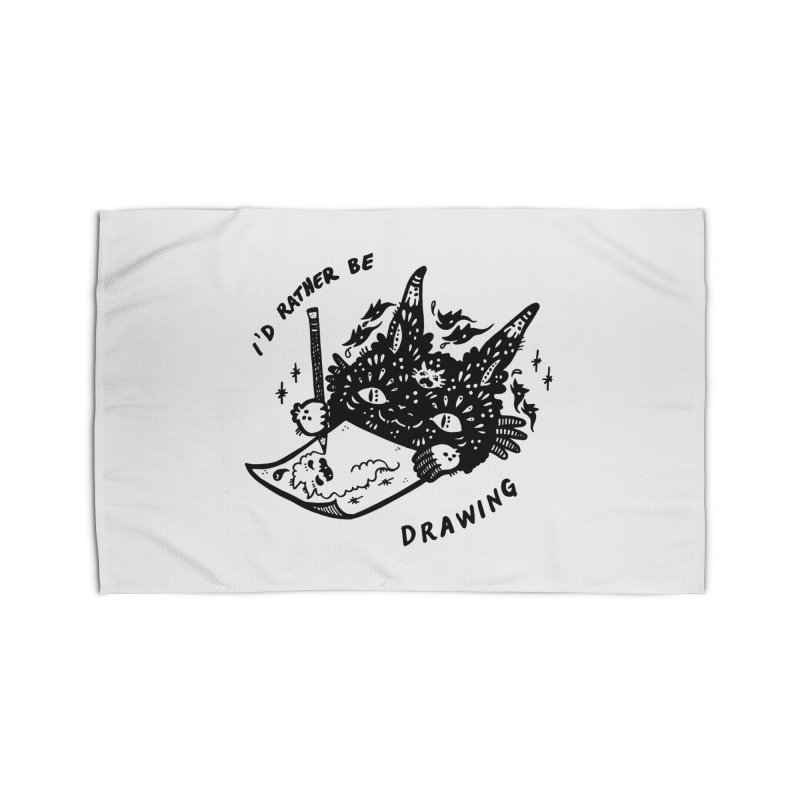 I'd rather be drawing Home Rug by Haypeep's Artist Shop